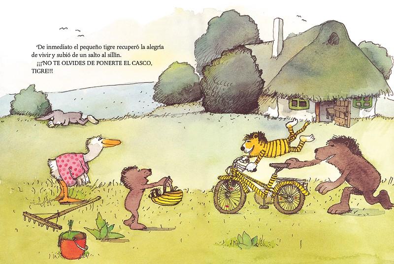 El pequeño tigre necesita una bicicleta