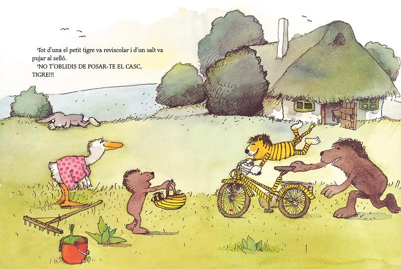 El petit tigre necessita una bicicleta